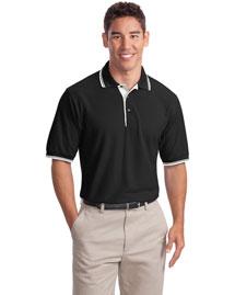 Port Authority K501 Men Silk Touch Polo Sport Shirt With Stripe Trim at bigntallapparel