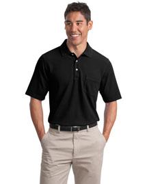 Port Authority Signature K800P Men Ez Cotton Pique Pocket Sport Shirt at bigntallapparel