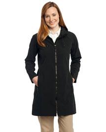 Port Authority L306 Women Long Textured Hooded Soft Shell Jacket at bigntallapparel