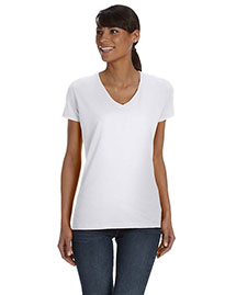 Fruit Of The Loom L39VR Women 5 Oz., 100% Heavy Cotton Hd V-Neck T-Shirt
