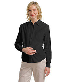 Port Authority Signature L608M Women Port Authority Maternity Long Sleeve Easy Care Shirt at bigntallapparel