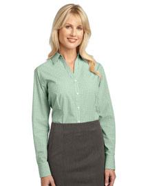 Port Authority L639 Women Plaid Pattern Easy Care Shirt
