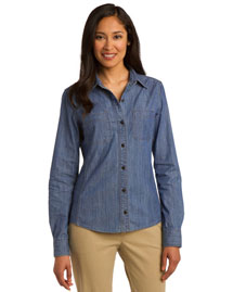 Port Authority L652 Women Chambray Shirt. L653