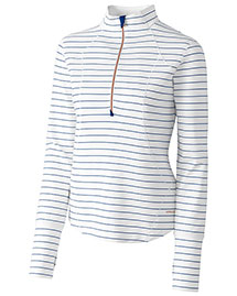 Cutter & Buck LAK06384  Long Sleeve Nerina Stripe Half Zip at bigntallapparel