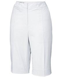 Cutter & Buck LCB04671 Women Cb Drytec White Pintuck Short at bigntallapparel