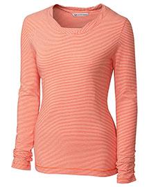 Cutter & Buck LCK02597 Women Long Sleeve Harbor Stripe Knit at bigntallapparel