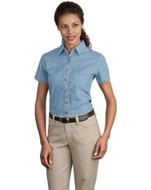 Port & Company LSP11 Women Short Sleeve Value Denim Shirt
