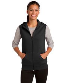 Sport-Tek LST268 Women Hooded Fleece Vest at bigntallapparel