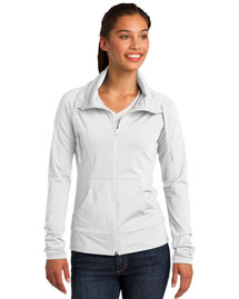 Sport-Tek LST852 Women Sportwick Stretch Fullzip Jacket at bigntallapparel