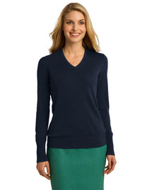 Port Authority LSW285 Women Vneck Sweater at bigntallapparel