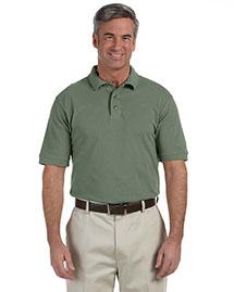Harriton M200 Men 6 Oz Ringspun Cotton Pique Short Sleeve Polo at bigntallapparel