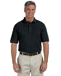 Harriton M200 Men 6 Oz Ringspun Cotton Pique Short Sleeve Polo