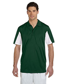Harriton M355 Men Side Blocked Micro-Pique Polo