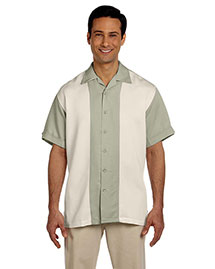 Harriton M575 Men Two Tone Bahama Cord Camp Shirt