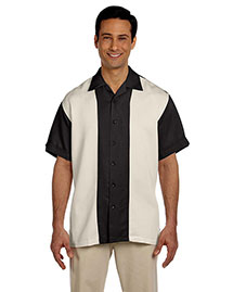 Harriton M575 Men Two Tone Bahama Cord Camp Shirt at bigntallapparel