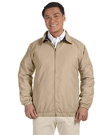 Harriton M710 Men  Microfiber Club Jacket at bigntallapparel