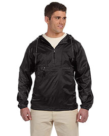 Harriton M750 Men Packable Nylon Jacket at bigntallapparel