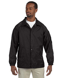 Harriton M775 Men Nylon Staff Jacket at bigntallapparel