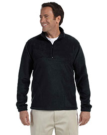 Harriton M980 Men 8 Oz Quarter Zip Fleece Pullover