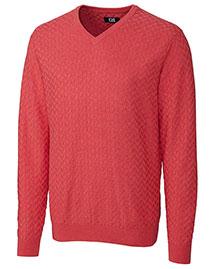 Cutter & Buck MCS01425 Men Mitchell V-Neck Sweater at bigntallapparel