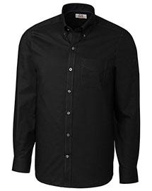 Cutter & Buck MCW09400 Men Long Sleeve Tailored Fit Fine Twill