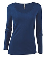Platinum P507C Women Delta  Ladies Cvc Long Sleeve Scoop Neck Tee