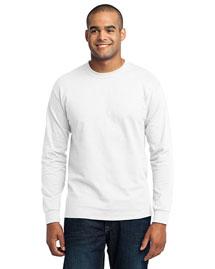 Port & Company PC55LS Men Long Sleeve 50/50 Cotton/Poly T-Shirt at bigntallapparel