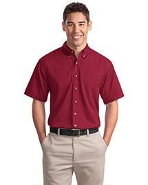 Port Authority S500T Men Short Sleeve Twill Shirt at bigntallapparel