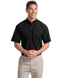Port Authority S507 Men Short Sleeve Easy Care Soil Resistant Dress Shirt at bigntallapparel