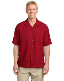 Port Authority S536 Men Patterned Easy Care Camp Shirt at bigntallapparel