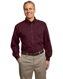 Port Authority Signature S613 Men Tonal Pattern Easy Care Shirt at bigntallapparel