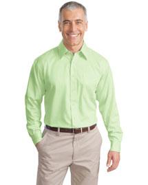 Port Authority S638 Men Long Sleeve Non Iron Twill Shirt at bigntallapparel