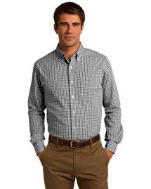 Port Authority S654 Men Long Sleeve Gingham Easy Care Shirt