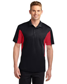 Sport-Tek ST655 Men Side Blocked Micropique  Wick Sport Shirt at bigntallapparel