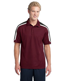 Sport-Tek ST658 Men Tricolor Shoulder Micropique Sport-Wick Polo