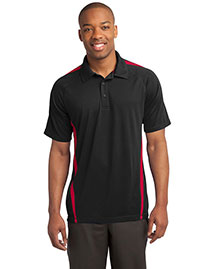 Sport-Tek ST685 Men Posicharge Micromesh? Colorblock Polo at bigntallapparel