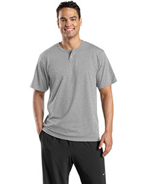 Sport-Tek T210 Men Short Sleeve Henley at bigntallapparel