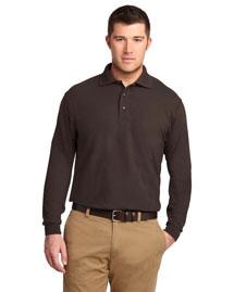Port Authority TLK500LS Men Tall Silk Touch? Long Sleeve Polo