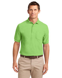 Port Authority TLK500P Men Tall Silk Touch? Polo With Pocket at bigntallapparel