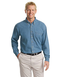 Port Authority TLS600 Men  Long Sleeve Denim Shirt