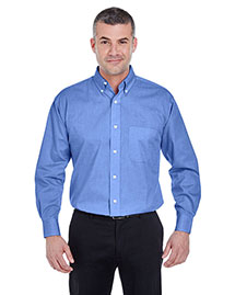 Ultraclub 8360 Men Longsleeve Performance Pinpoint