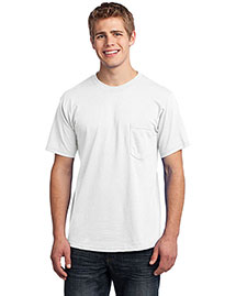 Port & Company USA100P Men All-American Tee With Pocket at bigntallapparel