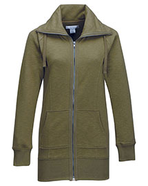 Tri-Mountain FL688 Women 60% Cotton/40% Polyester Full Zip Knit Jacket at bigntallapparel