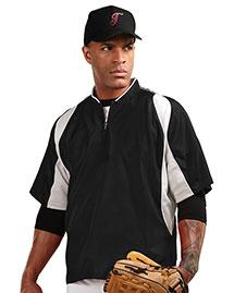 Tri-Mountain J2108 Men 100% Polyester S/S 1/4 Zip Baseball Warmup Shirt at bigntallapparel