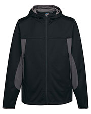 Tri-Mountain J6158 Men 100% Polyester Hoody Jacket With Contrast Side Panel And Zipper Pocket at bigntallapparel