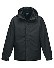 Tri-Mountain J8750 Men 2 In I 100% Polyester W/R Jacket, Inside Poly Fleece Jacket
