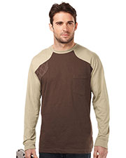 Tri-Mountain K086LS Men Ls Shooter Tee W/Contrast Quilted Patch at bigntallapparel