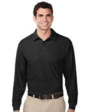 Tri-Mountain K107LS Men 100% Polyester Uc Long Sleeve Golf Shirt at bigntallapparel