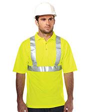 Tri-Mountain K222G Men 100% Polyester Birdeye 3 Button Polo