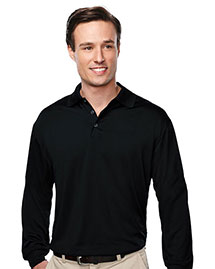 Tri-Mountain K224LS Men Long Sleeve Golf Shirt at bigntallapparel